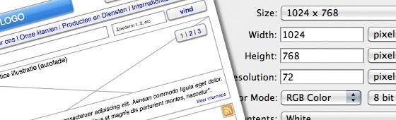 Richtlijnen aanlevering website ontwerpen
