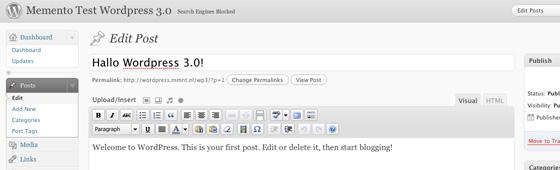 10 nieuwe features in Wordpress 3.0 om naar uit te kijken