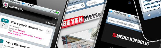 iPhone geoptimaliseerde websites